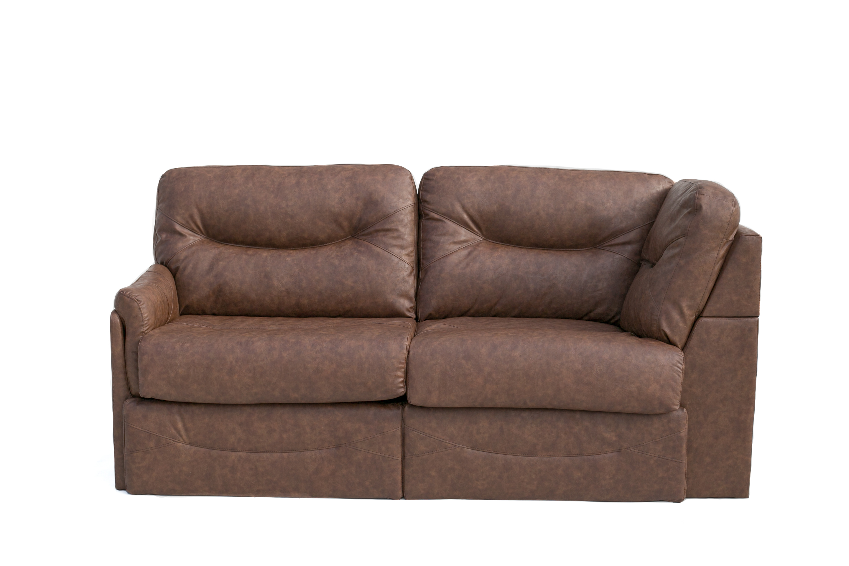 80 Sleeper Sofa In Toffee Prima Leatherette Pr1801 004