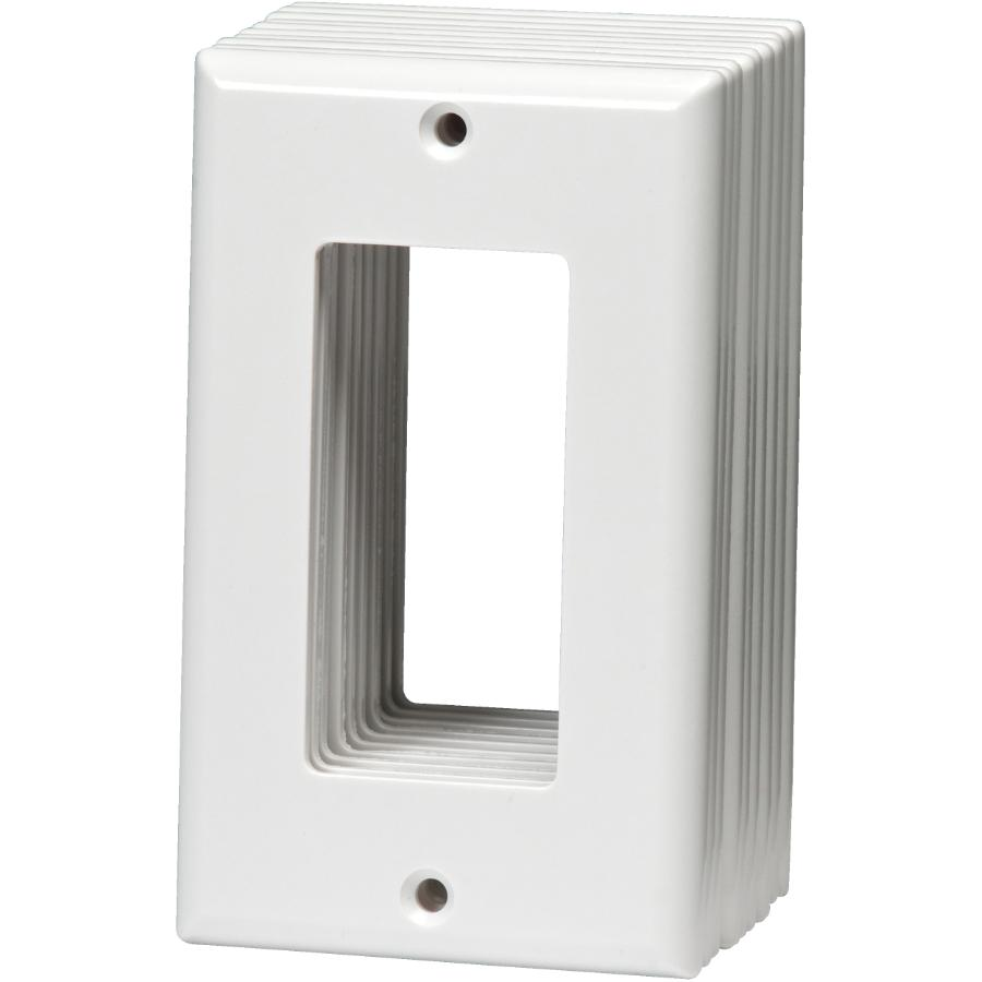 Home Electric 10 Pack White Plastic 1 Gang Decora Wall Plates Home Hardware