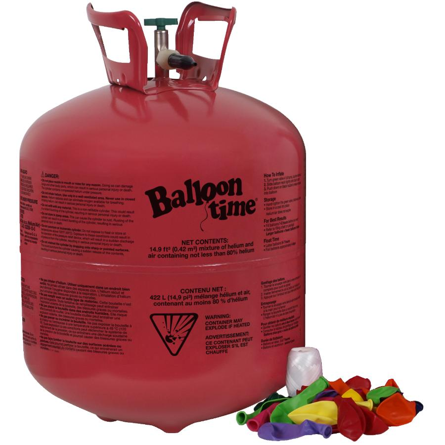 Balloon Time Helium Tank With Balloons | Home Hardware