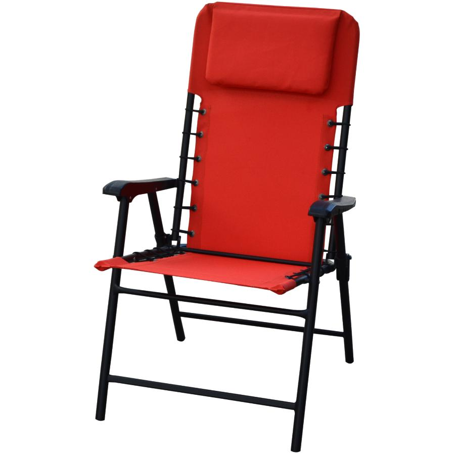 Instyle Outdoor Red Folding Bungee, Red And Black Folding Patio Chairs