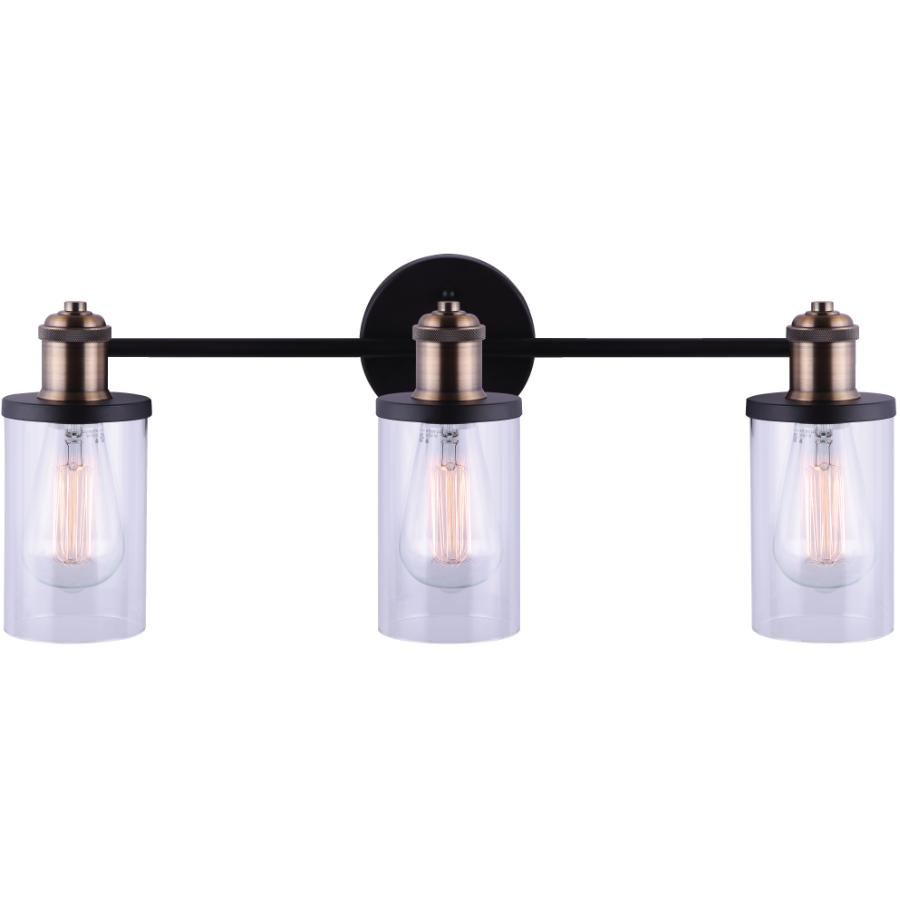 Canarm Cecilia 3 Light Matte Black Gold Vanity Light Fixture Home Hardware