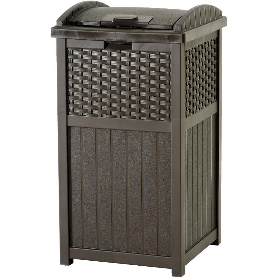 Suncast 30 Gallon Resin Wicker Hideaway Trash Container Home Hardware Canada