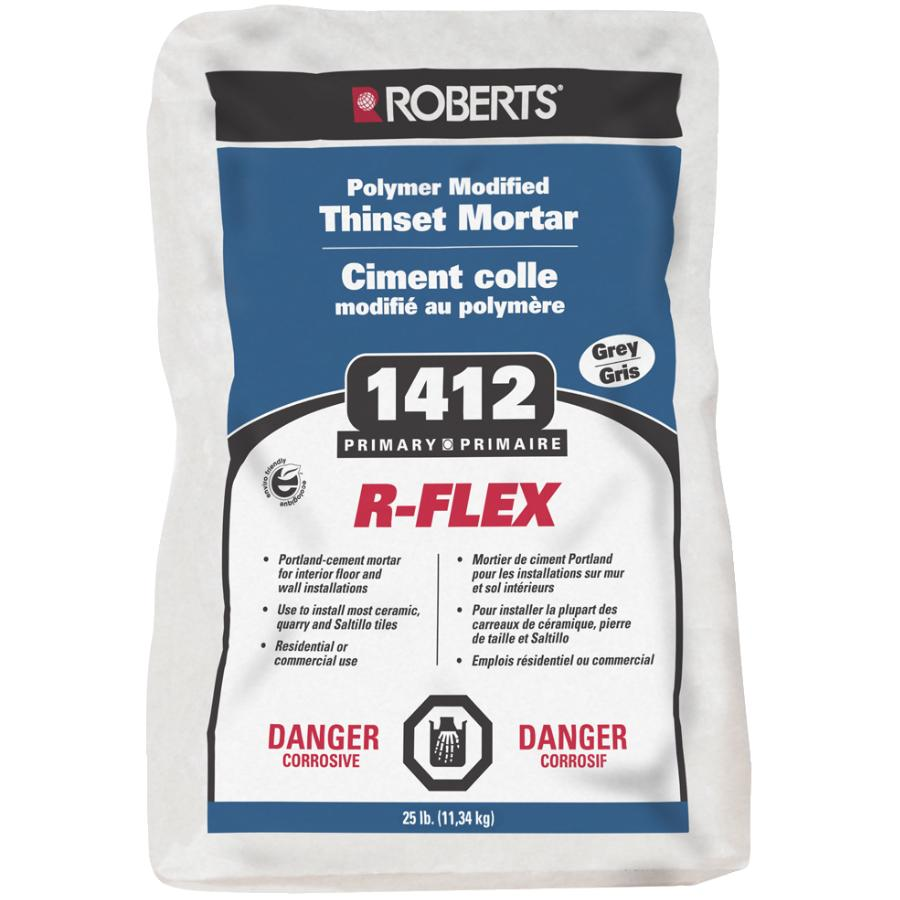 Roberts 25lb Grey Polymer Modified R-Flex Thinset Tile