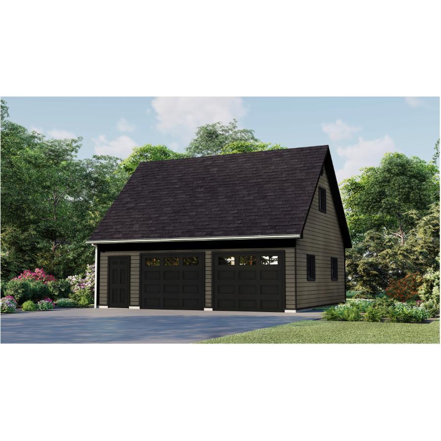 28 X24 Loft Garage Package With, Garage Loft Plans Home Hardware