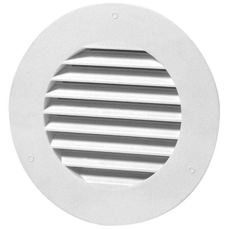 SDTC Tech 4 Inch Stainless Steel Soffit Air Vent Round Bull Nosed External Extractor Wall Vent Outlet Louver Grille Cover with Built-in Screen Mesh for Kitchen Bedroom Bathroom Office