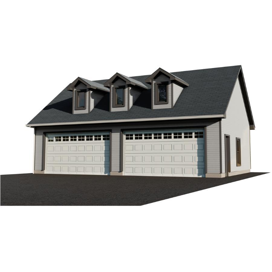 40 X 26 Basic Garage Package With, Garage Loft Plans Home Hardware