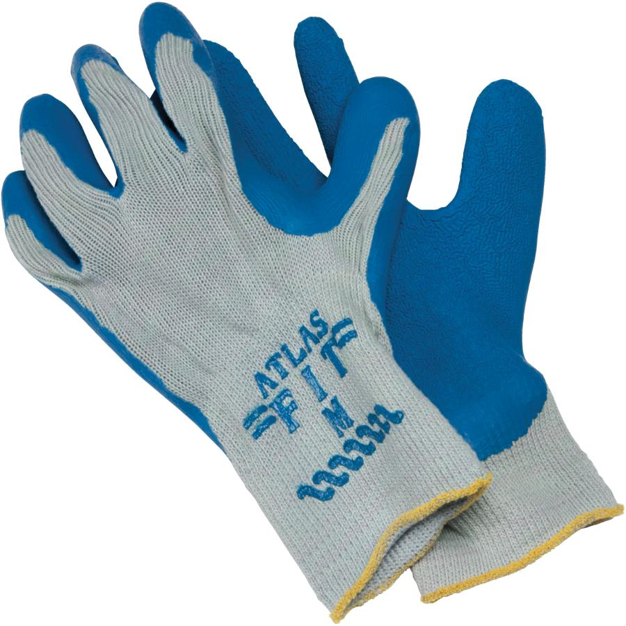 Watson Gloves Medium Blue Collar Latex Rubber Coated Work Gloves | Home  Hardware