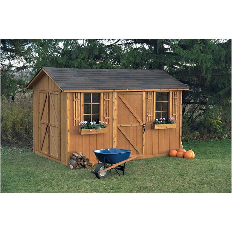 Garden Decor 8'x12' Huron Double Door Storage Shed | Home