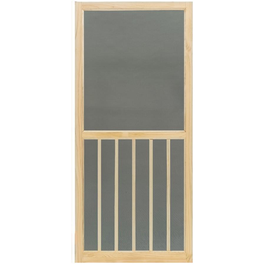 32 X 80 5 Bar Pine Screen Door Home Hardware