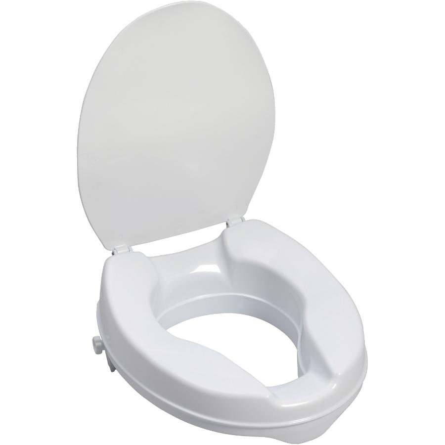 Astounding Aqua Sense Raised 2 Plastic Toilet Seat With Lid Home Theyellowbook Wood Chair Design Ideas Theyellowbookinfo