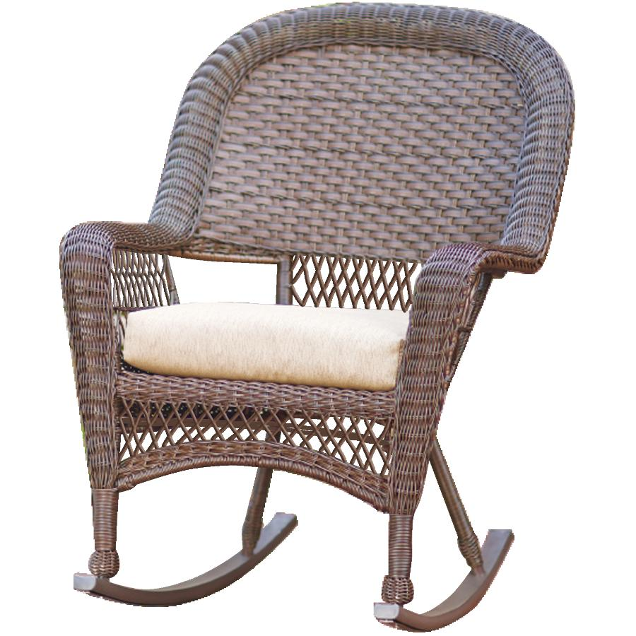 Northcape Chesapeake Wicker Rocking Chair With Cushion Home Hardware Canada