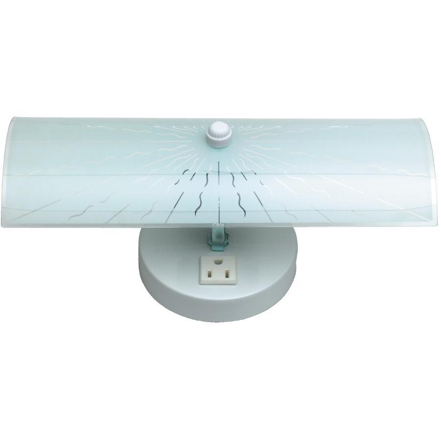 Galaxy 2 Light White Vanity, Plug In Bathroom Light
