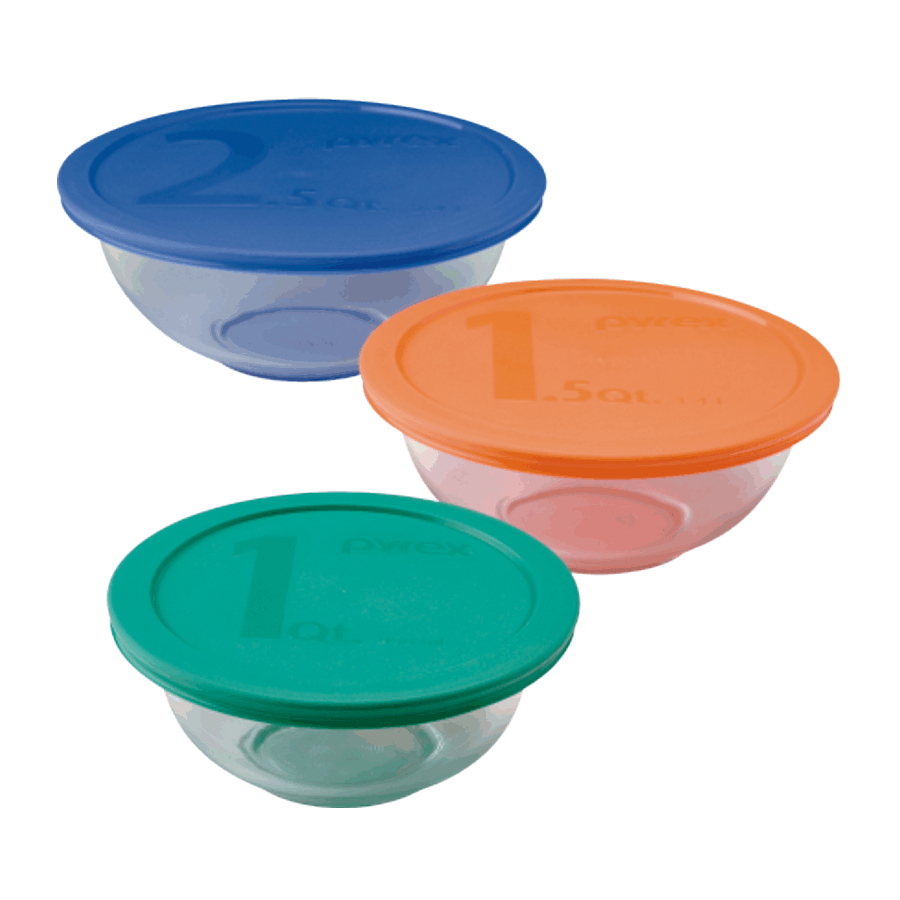 Pyrex 6 Piece Glass Mixing Bowl Set Home Hardware
