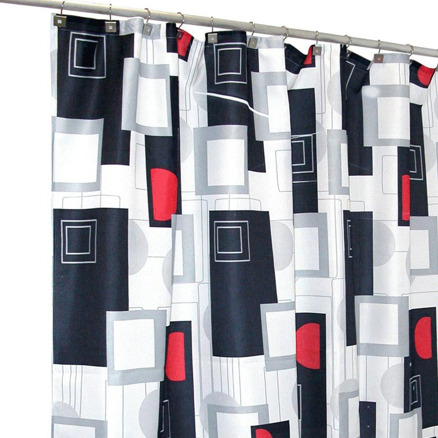 FAMOUS HOME 70 X 72 Urban Beat Polyester Shower Curtain