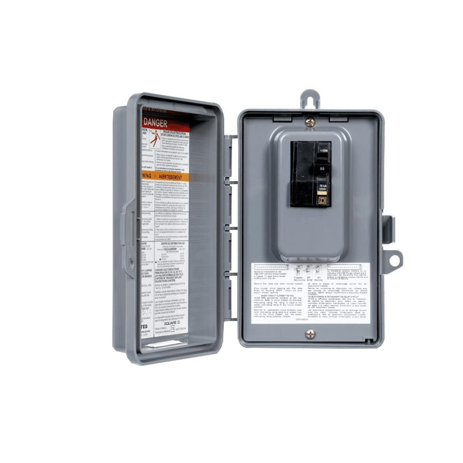 Square D 50 Amp GFCI Spa Panel + Breaker | Home Hardware