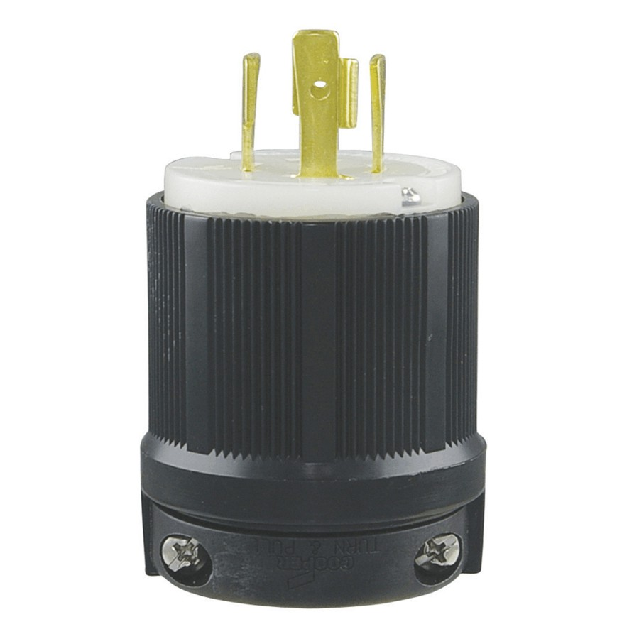 Eaton 20 Amp 125 250v Generator Twist Electrical Plug Home L14 Wiring To House Hardware Canada