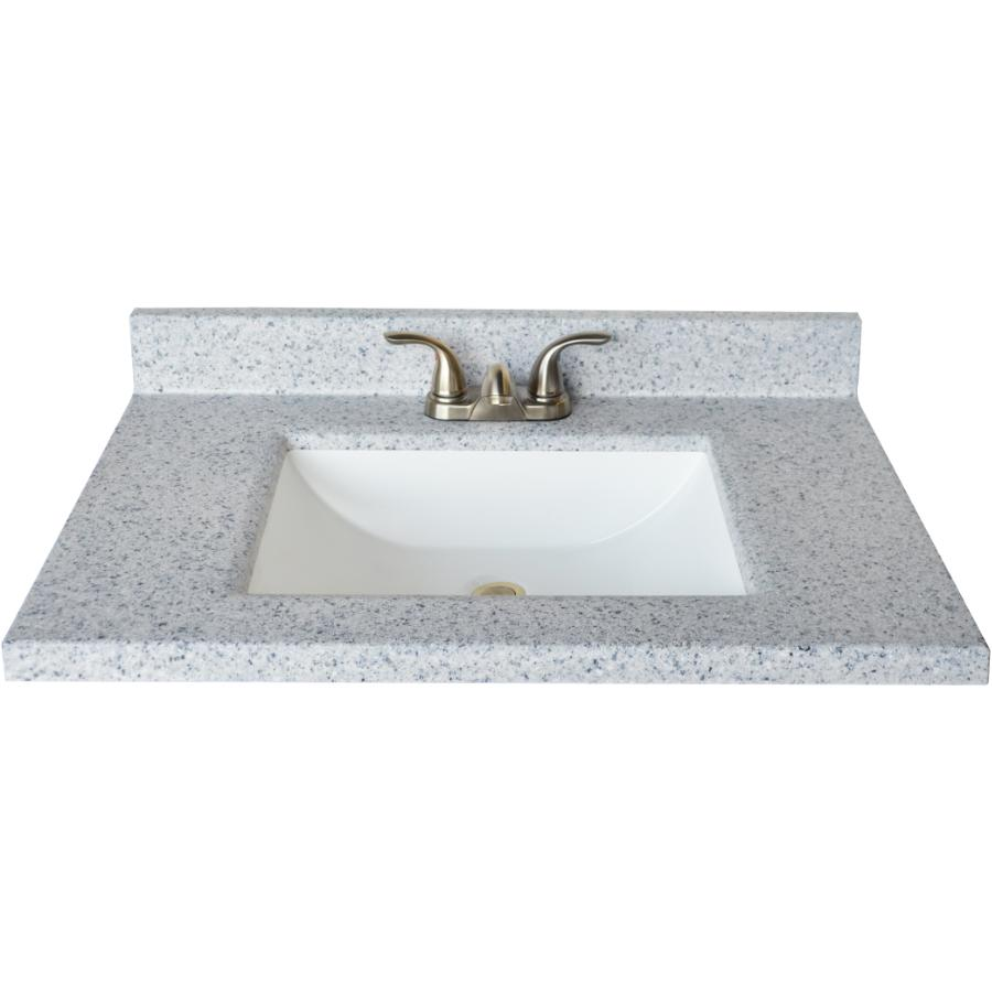 Design House 563379 Cultured Marble Wave Universal Side Splash 22 Moonscape Gray