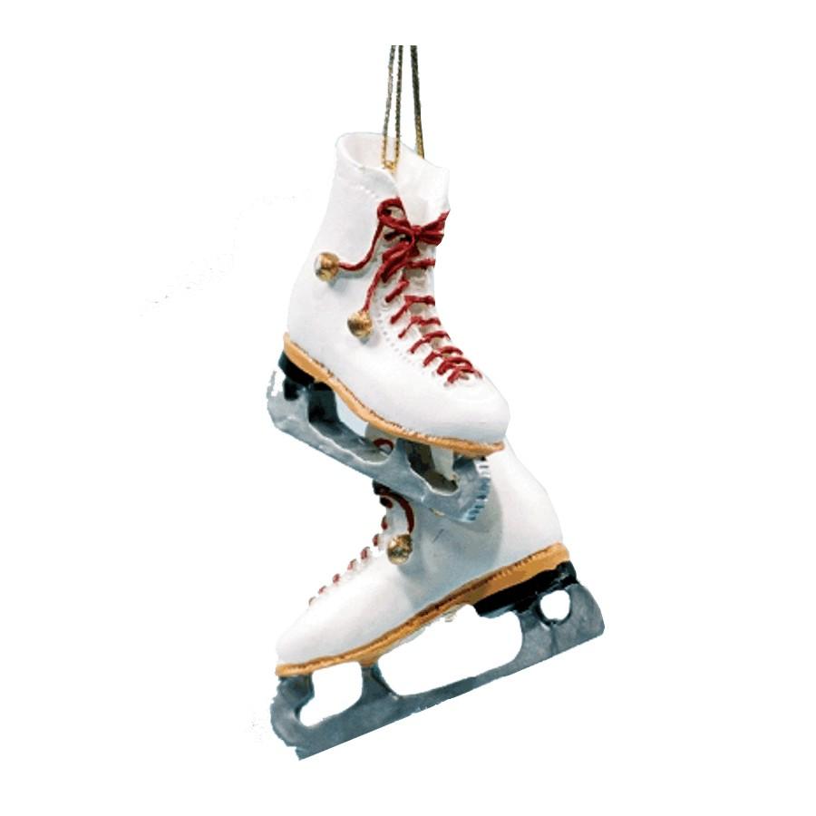 White Figure Skates Ornament - Home Hardware