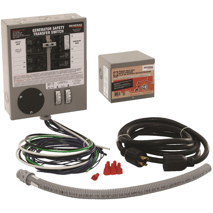 Reliance Controls 30 Amp 6 Circuit Power Transfer Kit For Generator Electrical Wiring In The Home Panel Breaker Hardware Canada