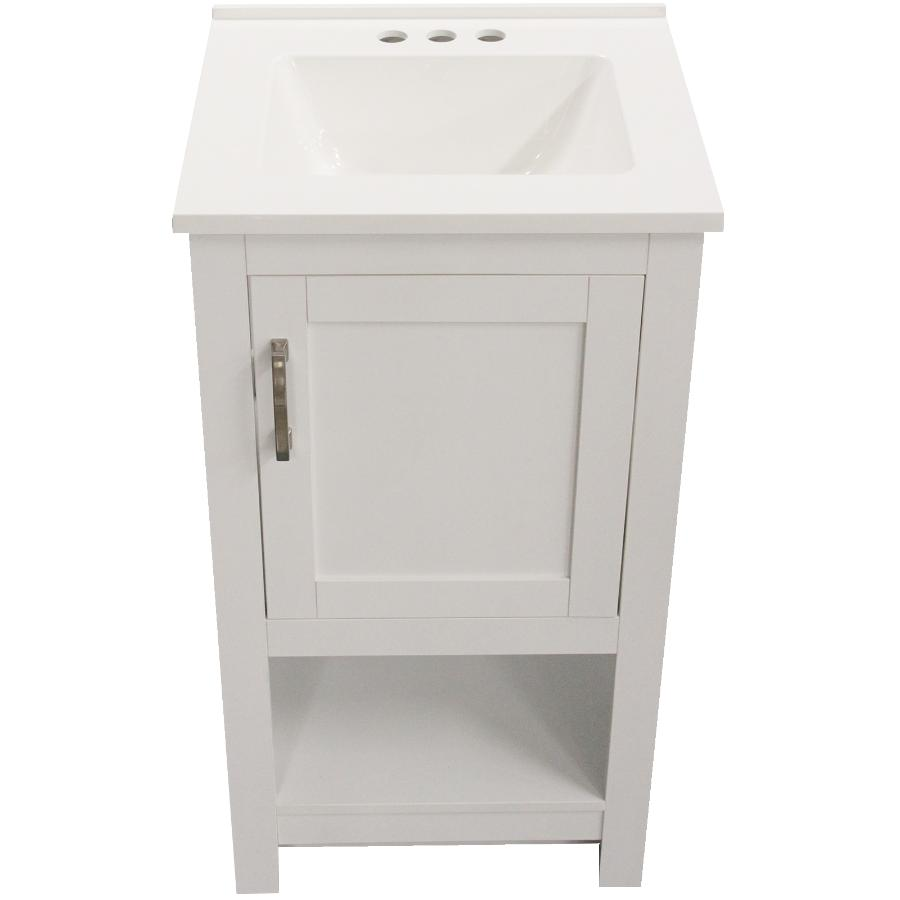 Laine Vanity With Composite Top White 19 W X 17 D Home Hardware