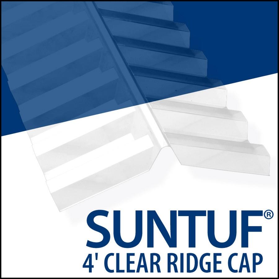 Vicwest 4' PC Suntuf Clear Ridgecap | Home Hardware