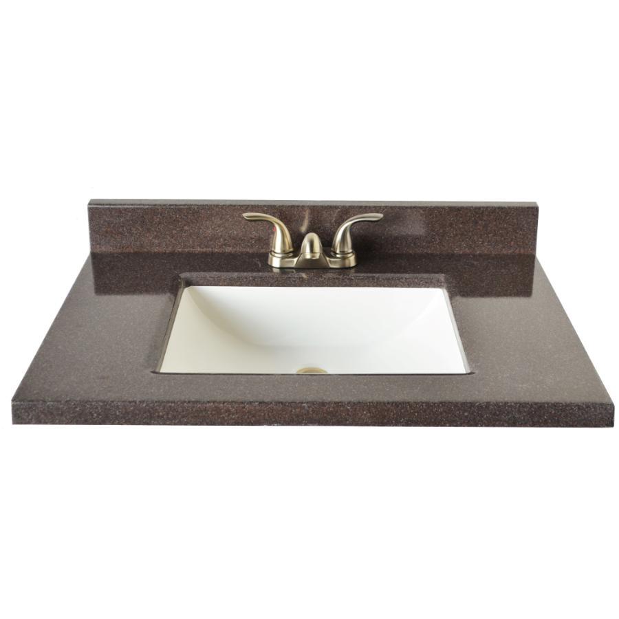 Two Tone Granite Vanity Top With Rectangular Sink Home Hardware