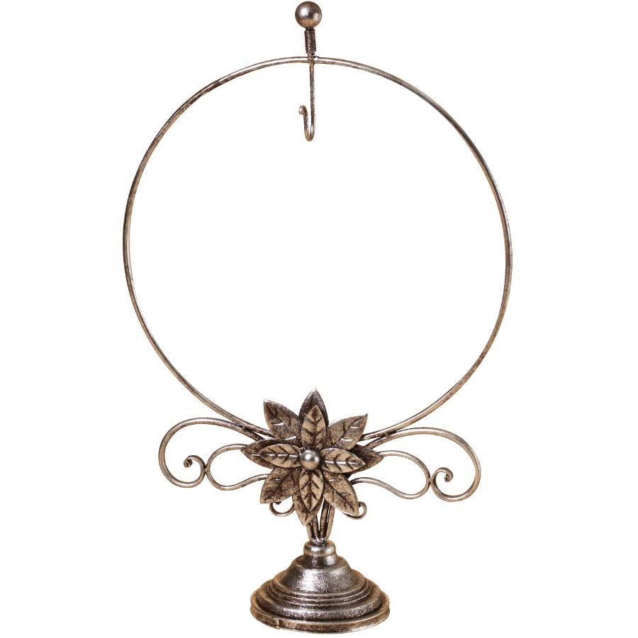 "27.5/"" Silver Metal Wreath Stand"