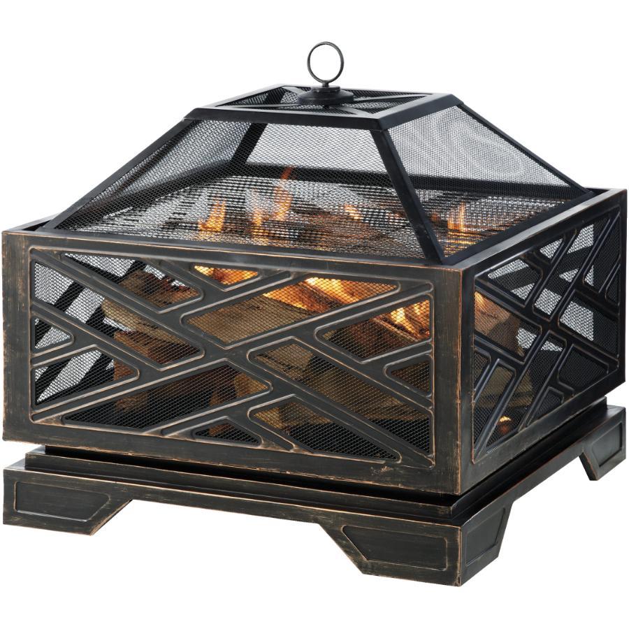 Nouveau 65 Cm Métal Noir Circulaire Log Support cheminée stockage Fireside