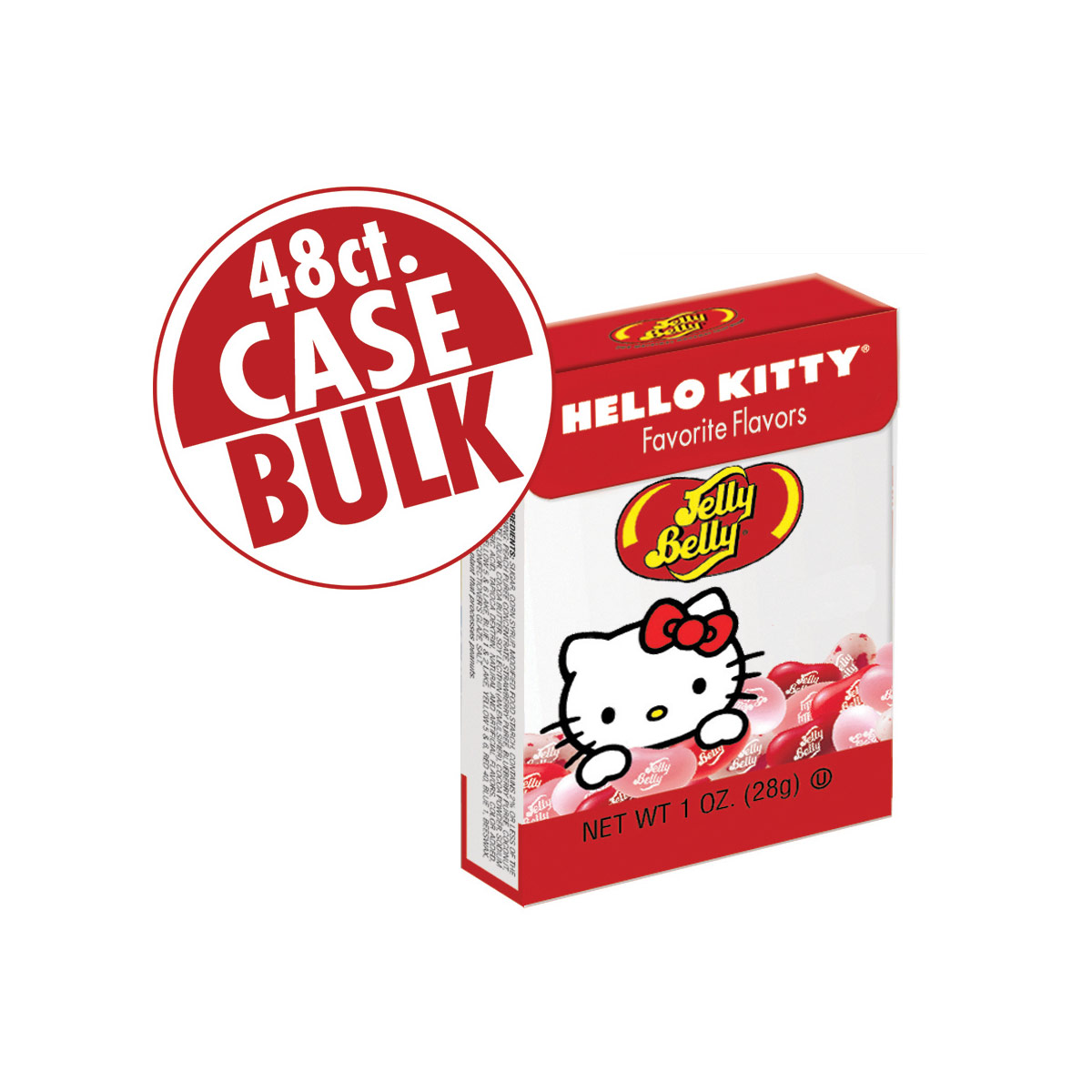 Hello Kitty<sup>®</sup> Favorite Flavors Jelly Beans - 1 oz Flip-Top box - 48-Count Case