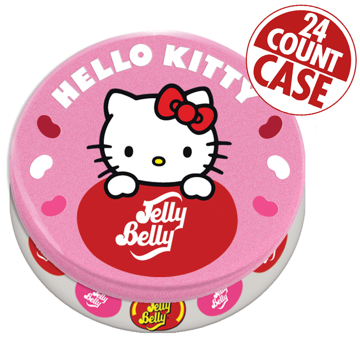 Hello Kitty<sup>®</sup> Favorite Flavors Jelly Beans Tin - 1.5 oz - 24 Count Case