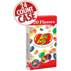 20 Assorted Jelly Bean Flavors - 4.5 oz Flip-Top Boxes - 24-Count Case