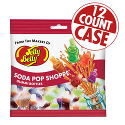 Soda Pop Shoppe® Gummi Bottles - 2.6 oz Bags - 12-Count Case