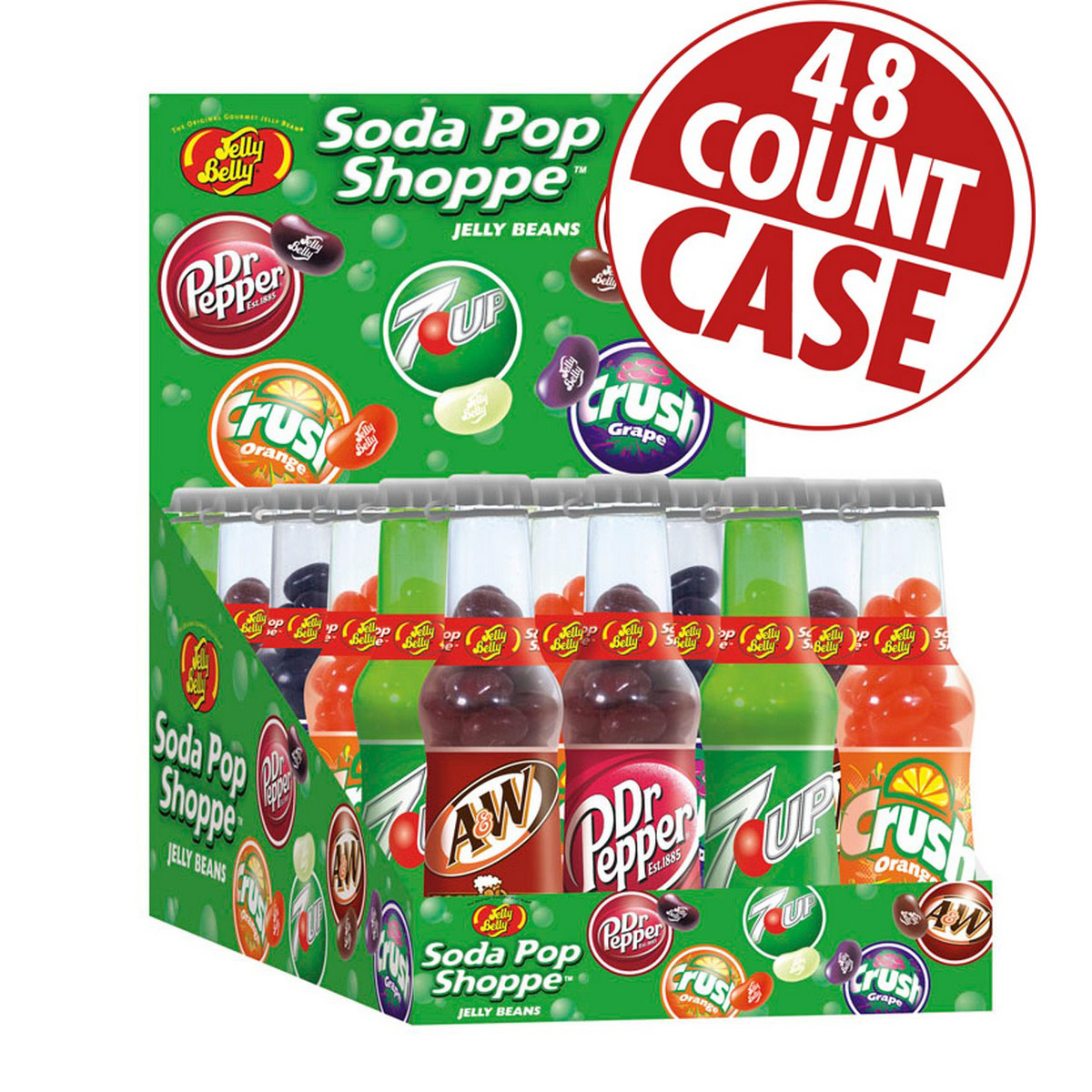 Soda Pop Shoppe<sup>®</sup> Jelly Beans - 1.5 oz. bottles - 48-Count Case