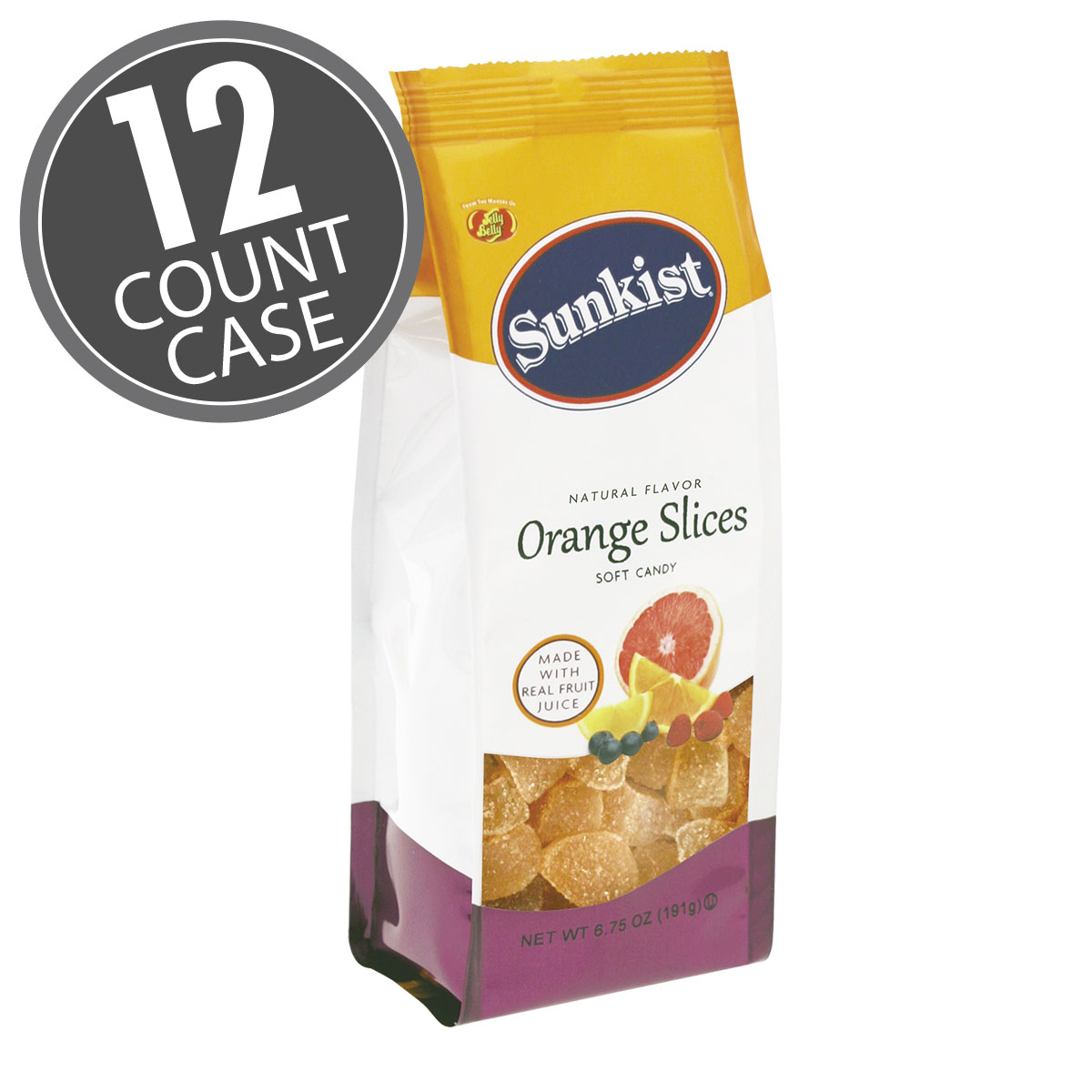 Sunkist® Orange Slices - 6.75 oz Gift Bags - 12-Count Case
