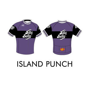 Jelly Belly Island Punch Retro Cycling Jersey - Adult - Extra Large