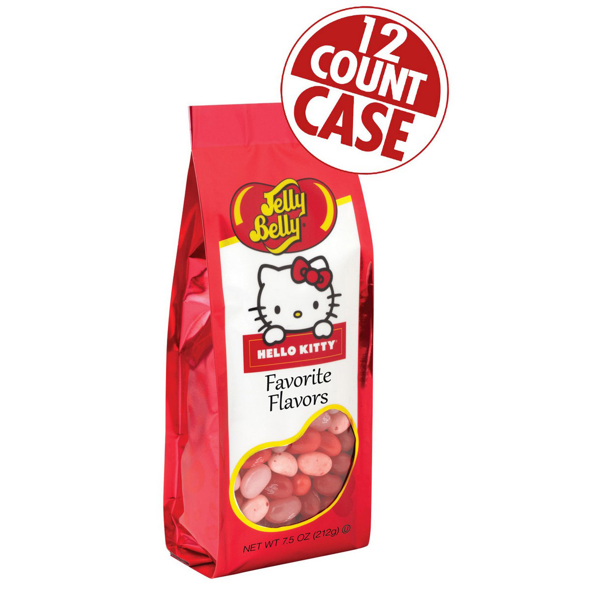 Hello Kitty<sup>®</sup> Favorite Flavors Jelly Beans - 7.5 oz Gift Bag - 12 Count Case