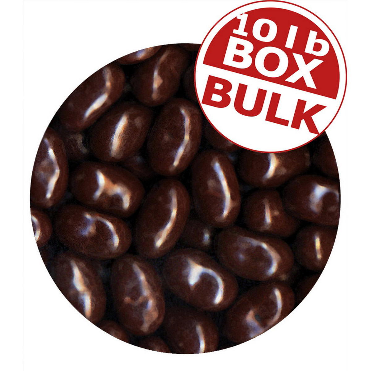 Jelly Bean Chocolate Dips<sup>&reg;</sup> - Very Cherry - 10 lbs bulk