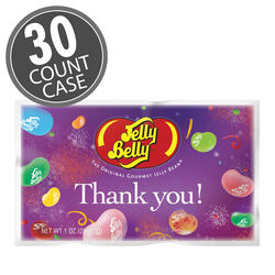Thank You Assorted Flavors Jelly Beans – 1 oz. Bag - 30-Count Case