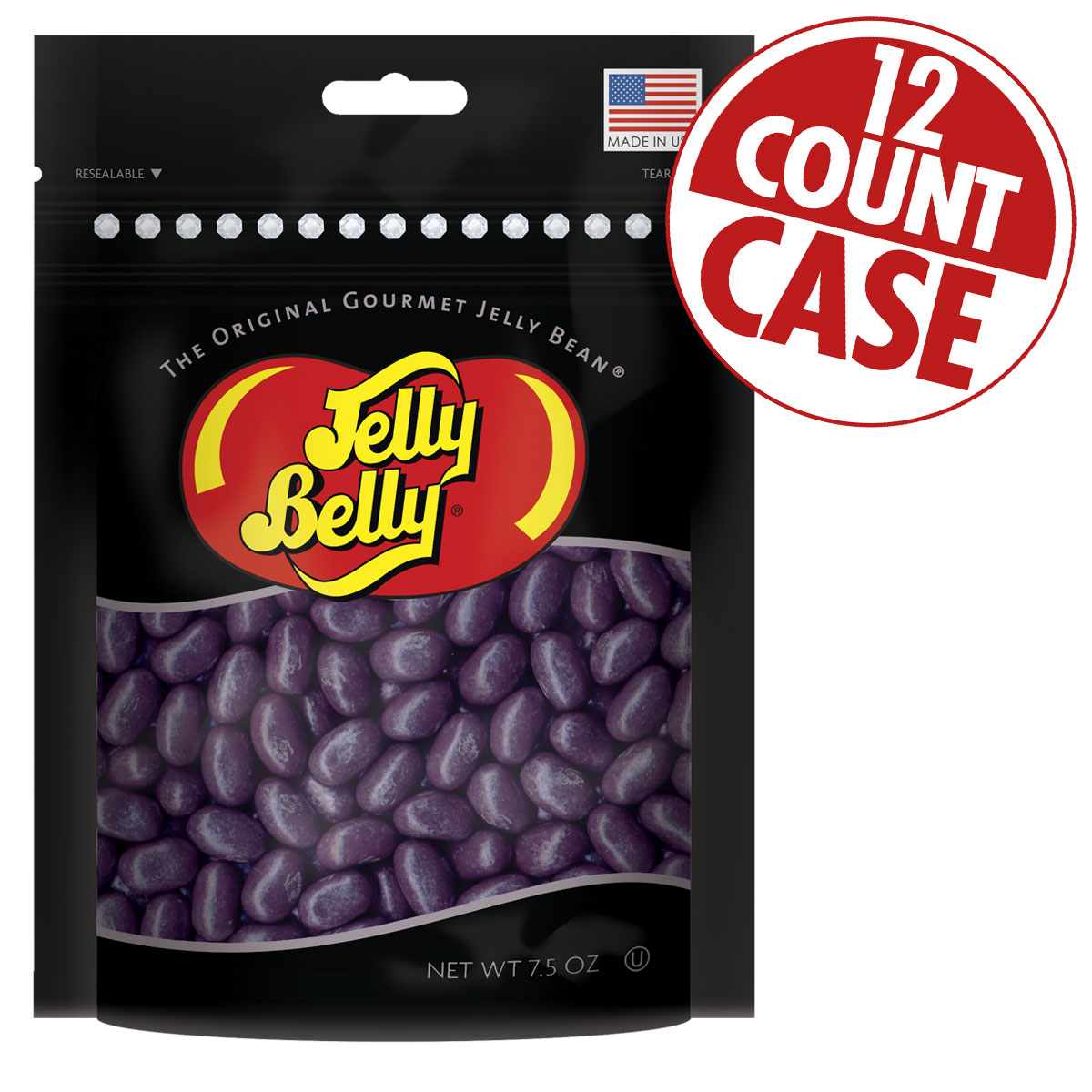 Jewel Grape Soda Jelly Beans Party Bag - 7.5 oz - 12 Count Case
