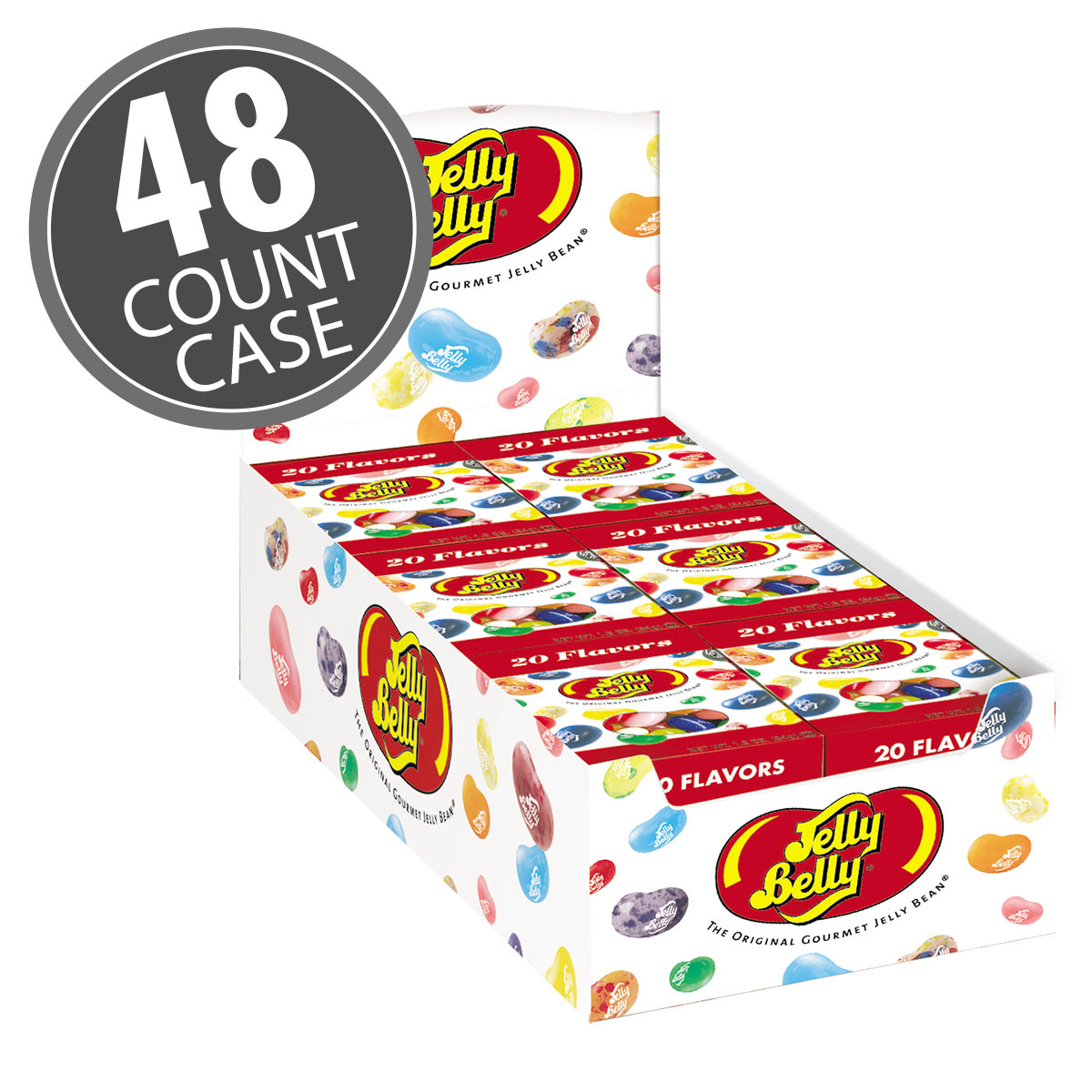 Jelly Belly Assorted jelly beans in small boxes. 20 assorted flavors. Great candy for a party or giveaways.