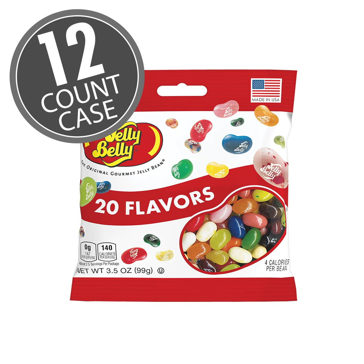 Jelly Belly Assorted jelly beans in 3.5 oz bags. 20 assorted fruit flavors. Great candy for a party; gifts or giveaways.