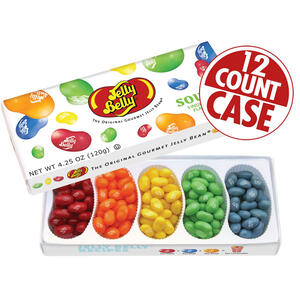 5-Flavor Sours Jelly Bean Gift Box - 12-Count Case