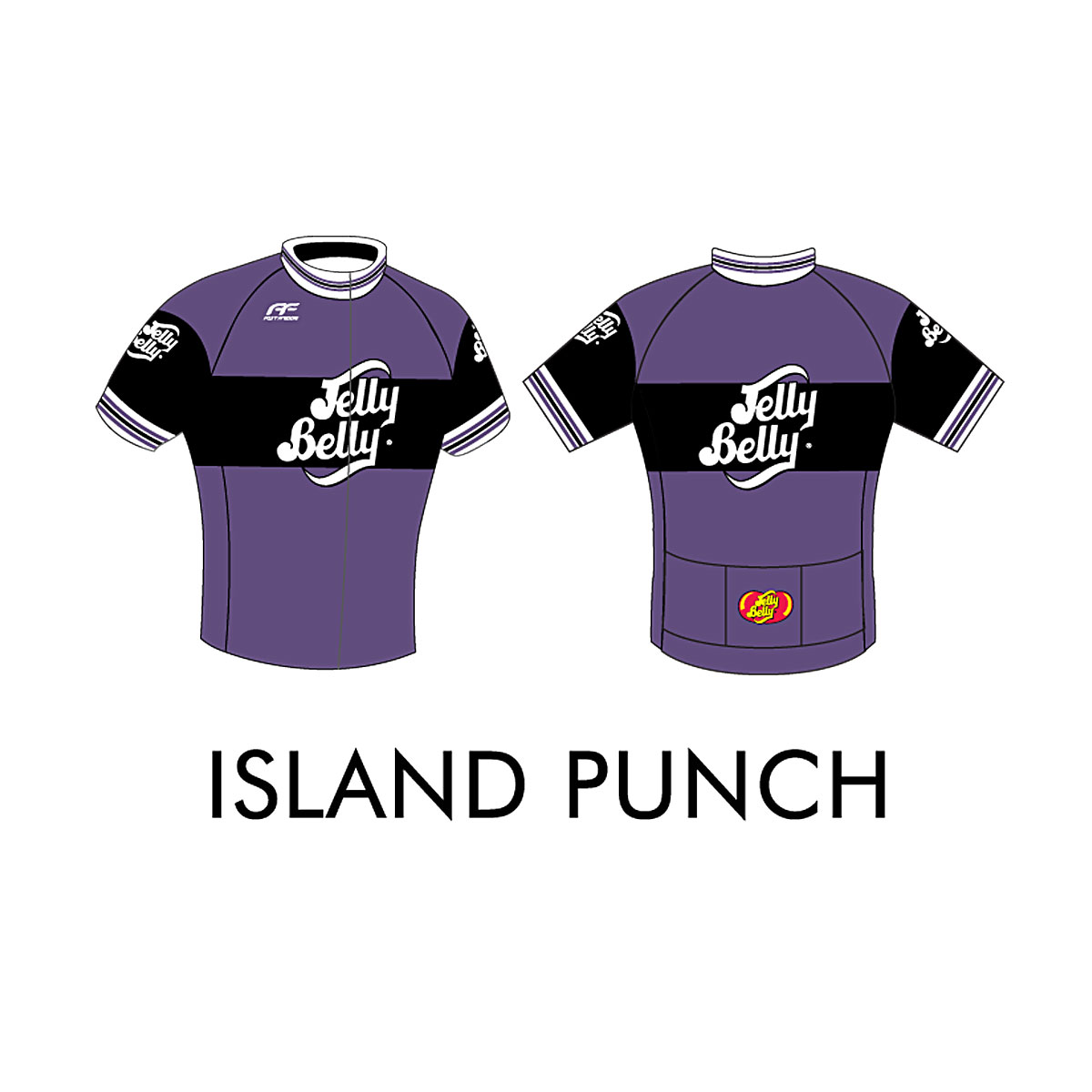 Jelly Belly Island Punch Retro Cycling Jersey - Adult - Small