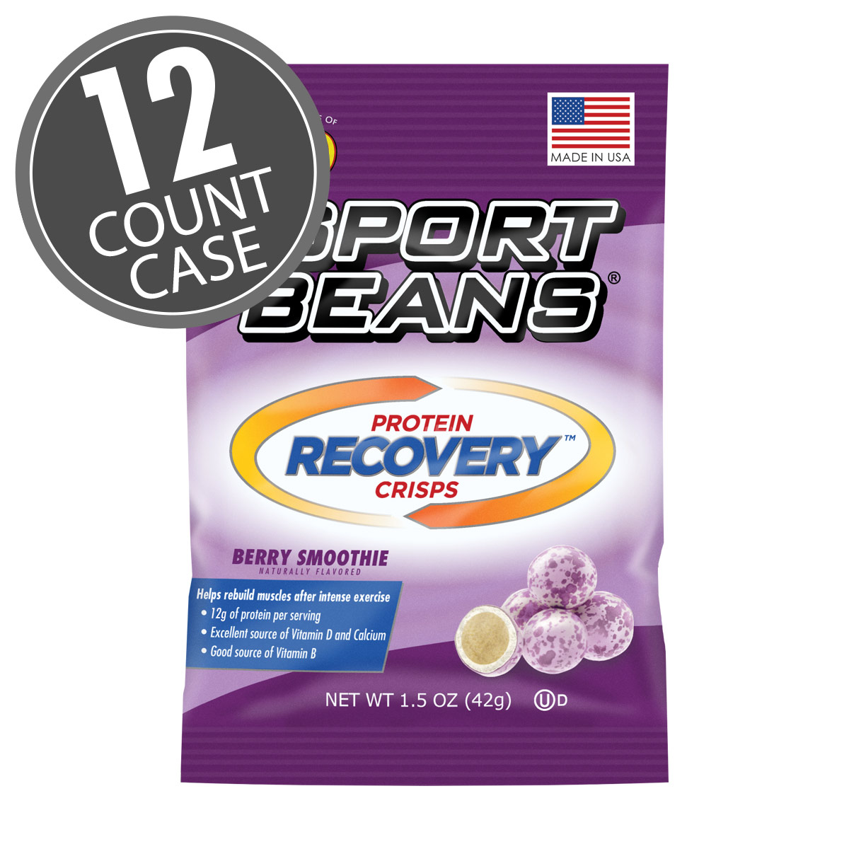 Sport Beans<sup>®</sup> Protein Recovery Crisps™ - Berry Smoothie 12-Pack