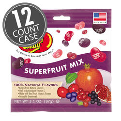 Superfruit Mix Jelly Beans -3.1 oz Bags - 12-Count Case