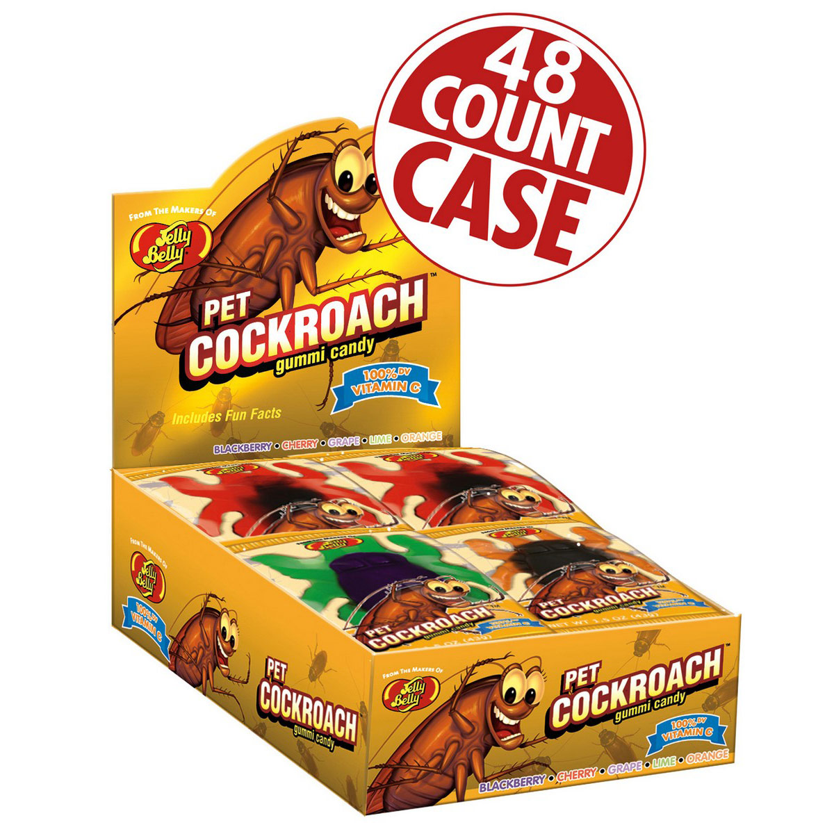 Gummi Pet Cockroaches - 1.5 oz -  48 Count Case