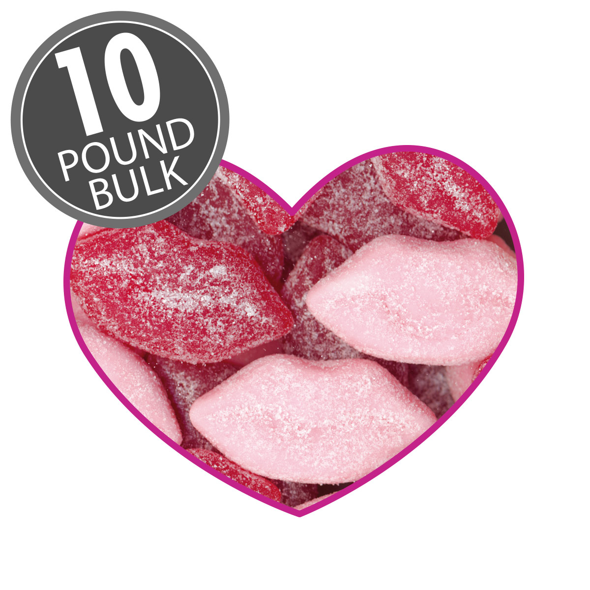Sour Smoochi Lips - 10 lbs bulk