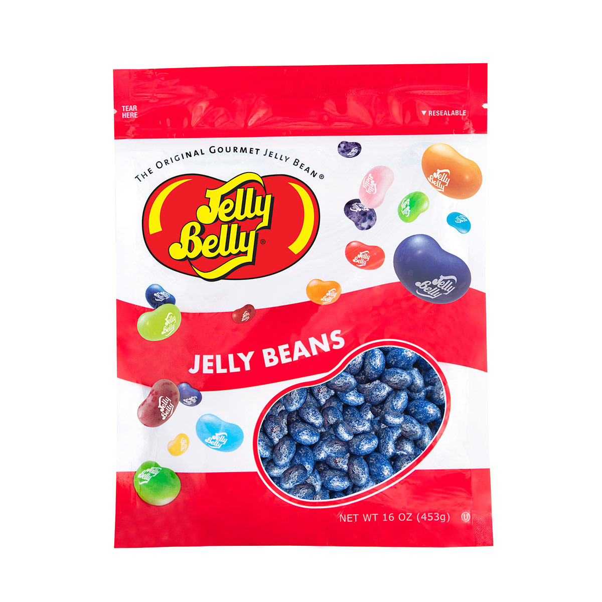 Jewel Blueberry Jelly Beans - 16 oz Re-Sealable Bag