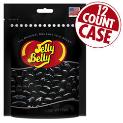 Licorice Jelly Beans Party Bag - 7.5 oz Bag - 12 Count Case