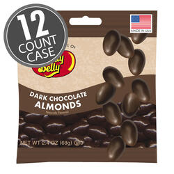 Dark Chocolate Almonds - 2.4 oz Bags - 12-count Case
